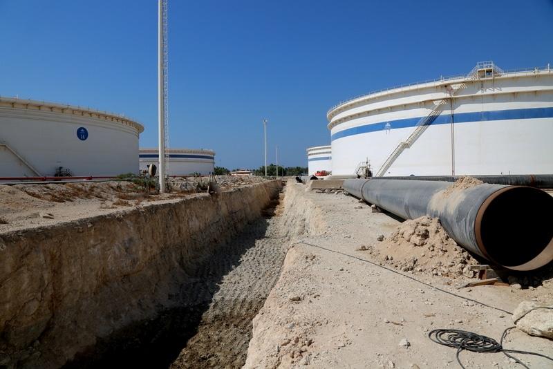 نوسازی خطوط لوله در پایانه نفتی خارک