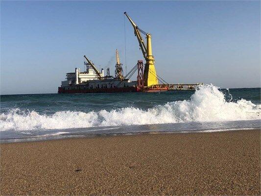 تکمیل عملیات اجرایی احداث خطلوله دریایی گاز  کیش / بندر آفتاب