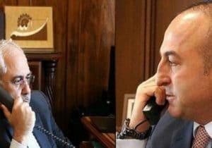 رایزنی تلفنی ظریف و همتای ترکیهای