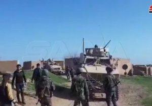 یک کاروان لجستیک نظامیان آمریکا در عراق هدف قرار گرفت