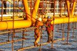 پایان رنگآمیزی سکوی یازدهم پارس جنوبی در خلیج فارس