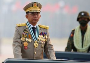 سردسته کودتاچیان میانمار، خود را نخستوزیر اعلام کرد