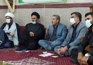 دیدار مردمی نایب رئیس کمیسیون عمران و حمل و نقل شورای اسلامی شهر تهران در مسجد شهابی